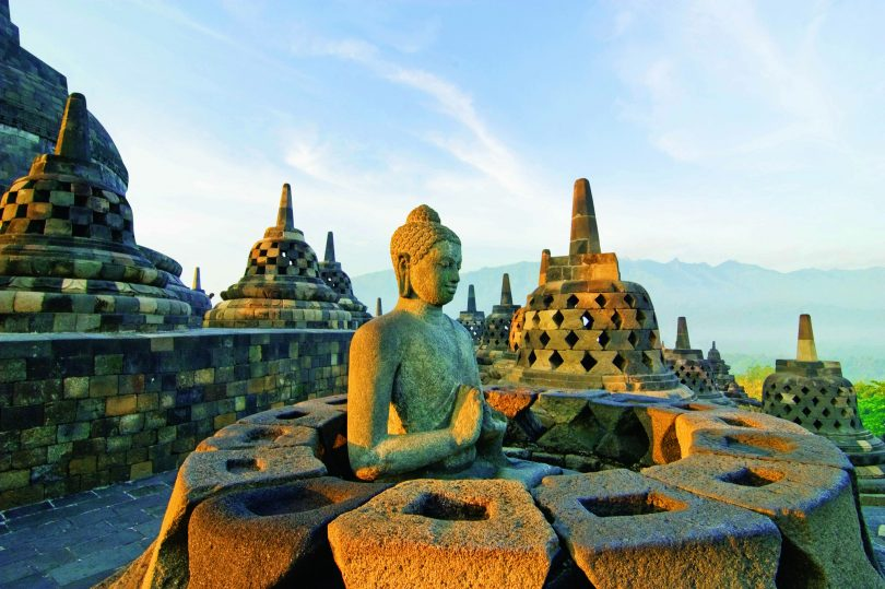 visiting borobudur temple with kids