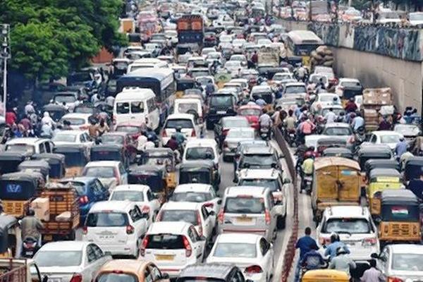 kota macet di dunia new delhi