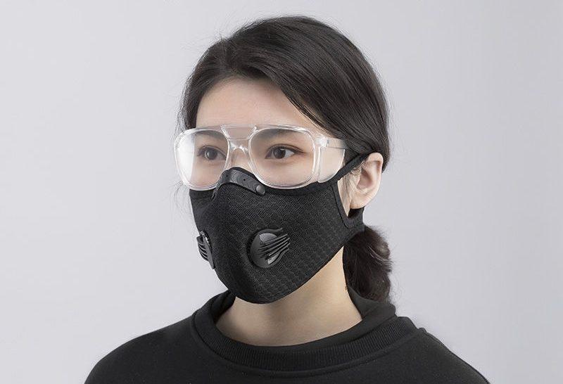 face shield dan masker filter