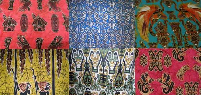 Motif Batik Burung Cendrawasih Papua