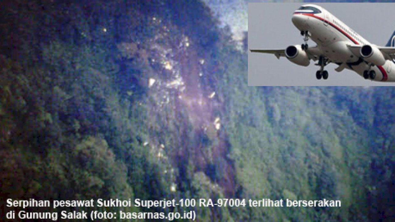 Pesawat Sukhoi Gunung Salak